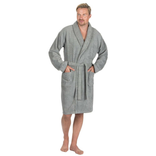 Mens Luxury Cotton Terry Towelling Soft Bath Spa Robe Dressing Gown Pierre Roche