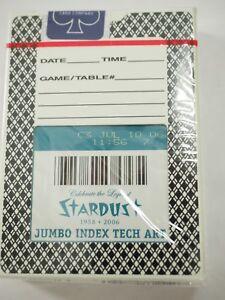 Stardust-Hotel-y-Casino-las-Vegas-Sellado-Never-Played-Casino-Playing-Tarjetas