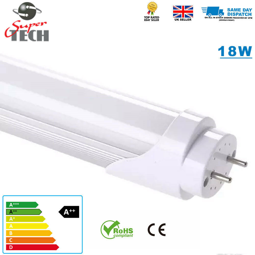 10 X 4ft T8 18W 1.2m LED Luz de Tubo T8 LED Luz de Tubo de recambio de fluorescentes