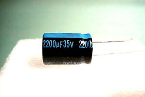 1200UF 35V 1200MFD LOT OF 6 JAMICON RADIAL CAPACITORS 105c USA FREE SHIPPING