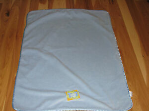 SMALL WONDERS BABY BOY BLUE SATIN ELEPHANT SECURITY LOVEY BLANKET YELLOW PATCH