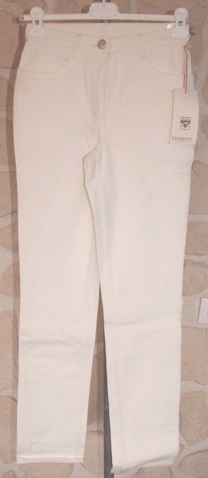 Jeans ivoire neuf size 36 marque Giesswein étiqueté à