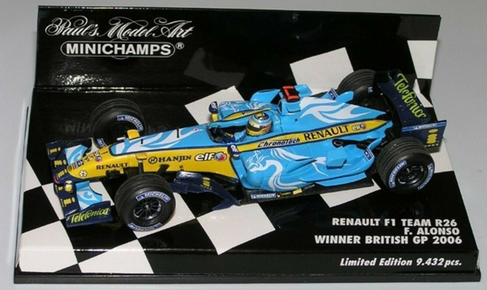 Wow extrêmement rare RENAULT R26 fer Alonso Winner British GP 2006 1 43 Minichamps