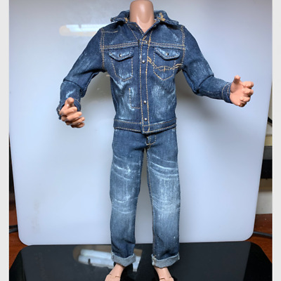 "1//6 Men/'s Jeans Calça Terno Roupa F 12/"" M33 Macho Boneco Corpo Model Toys"