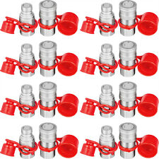 8 Sets 12 Npt Skid Steer Flat Face Hydraulic Quick Connect Couplers For Bobcat
