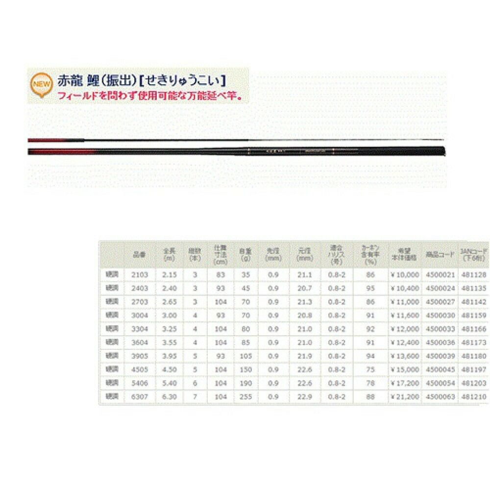 Nissin ROT Dragon Carp Rod Uzakinissin 540 Koucho Made in Japan 17'9