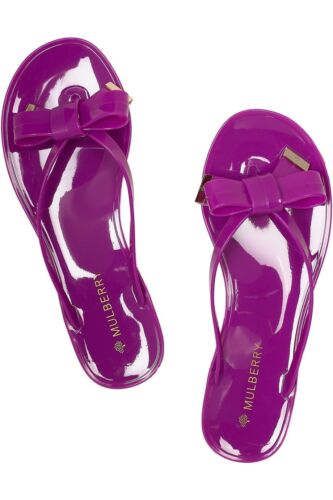Purple Mulberry Slippers Bow Flip 3 Rubber Fushia Pink 36 Flop Size Detail 11wrEapq