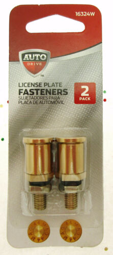Bullets License Plate Bolt Fasteners ~ 2 pack ~ Auto Accessories
