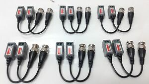 12x Mini HD Video Balun BNC Connector CAT5 Cat6 CCTV UTP - CVI TVI AHD Camera