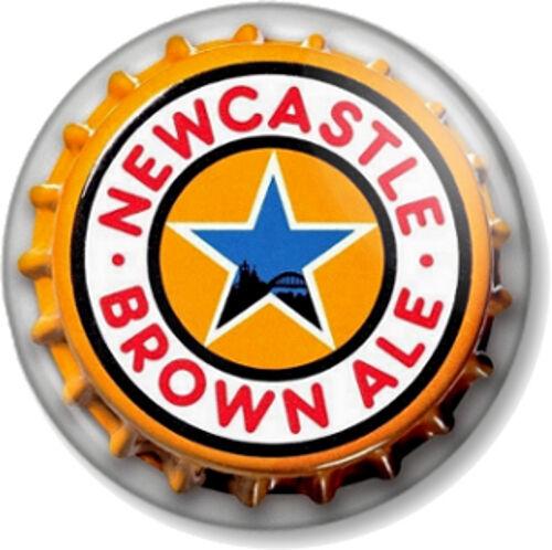 Newcastle Brown Ale Bottle Top 25mm Pin Button Badge Beer Cap Geordie NUFC Toon