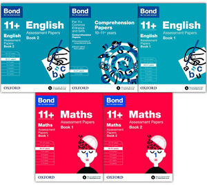English-amp-Maths-5-Books-Set-Collection-Bond-11-For-Ages-10-11-No-1-For-Exam