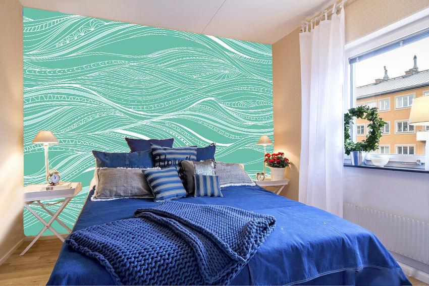 3D 3D 3D Fresh wave lines 1 WallPaper Murals Wall Print Decal Wall Deco AJ WALLPAPER 8ac9ba