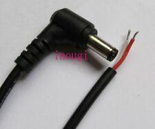 10pcs DC 5.5x2.5mm male Power Cord Plug Right Angle Connector adapter Cable 28cm