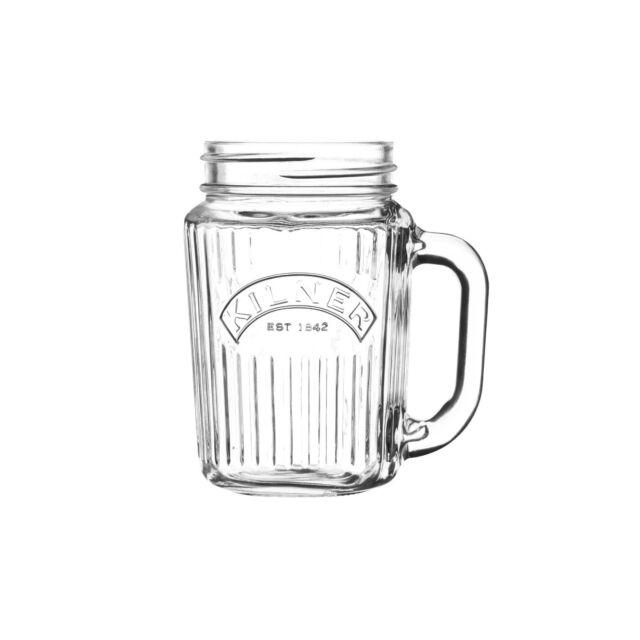 Kilner Handled Drinking Jar 400ml | Retro Vintage Mason Jars Cocktail Pimms