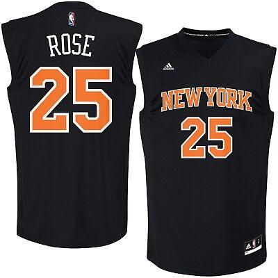 cheap for discount 6a8ed 696ec 💯% Genuine Derrick Rose New York Knicks adidas Fashion Replica Jersey  L-Black   eBay