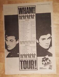 Wham-Club-fantastic-tour-1983-press-advert-Full-page-39-x-28-cm-poster