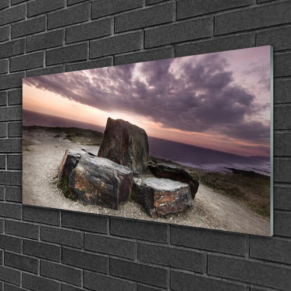 Image sur verre Tableau Impression 100x50 Paysage Roche