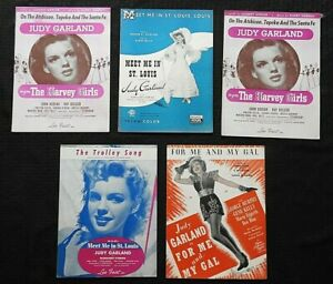 5-Judy-Garland-Meet-Me-In-St-Louis-The-Harvey-Girls-me-amp-My-Gal-SHEET-MUSIC