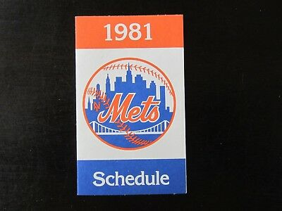New York Yankees 1981 pocket schedule