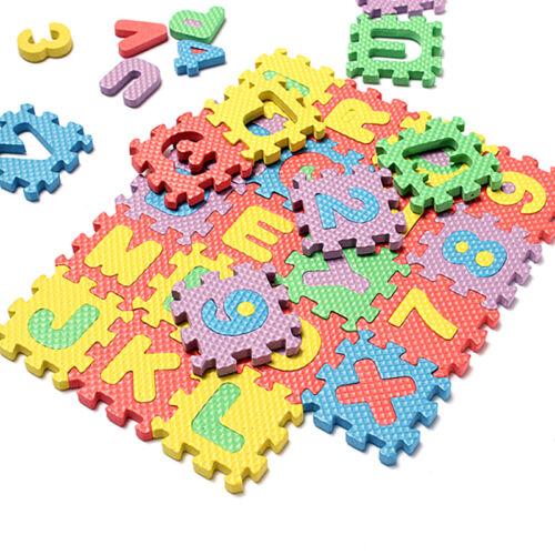 36Pcs Soft Foam Baby GXildren Kids Play Mat Alphabet Number Letter Puzzle**