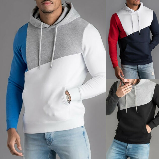 ❤️Mens Jumper Hoodies Hooded Sweatshirt Pullover Sweater Casual Warm Coat Jacket