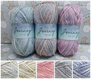 Hayfield-JOURNEY-DK-Acrylic-Wool-Pastel-Variegated-Knitting-Yarn-100g-Ball