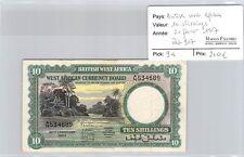 BILLET BRITISH WEST AFRICA - 10 SHILLINGS - 20.2.1957