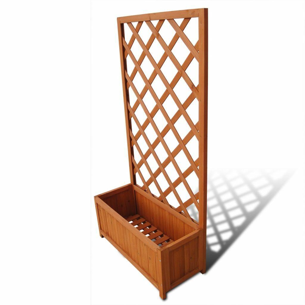 Holz Blaumenkasten mit Rankhilfe Rankgitter Blaumenkübel 40 70x30x135 cm G0S5