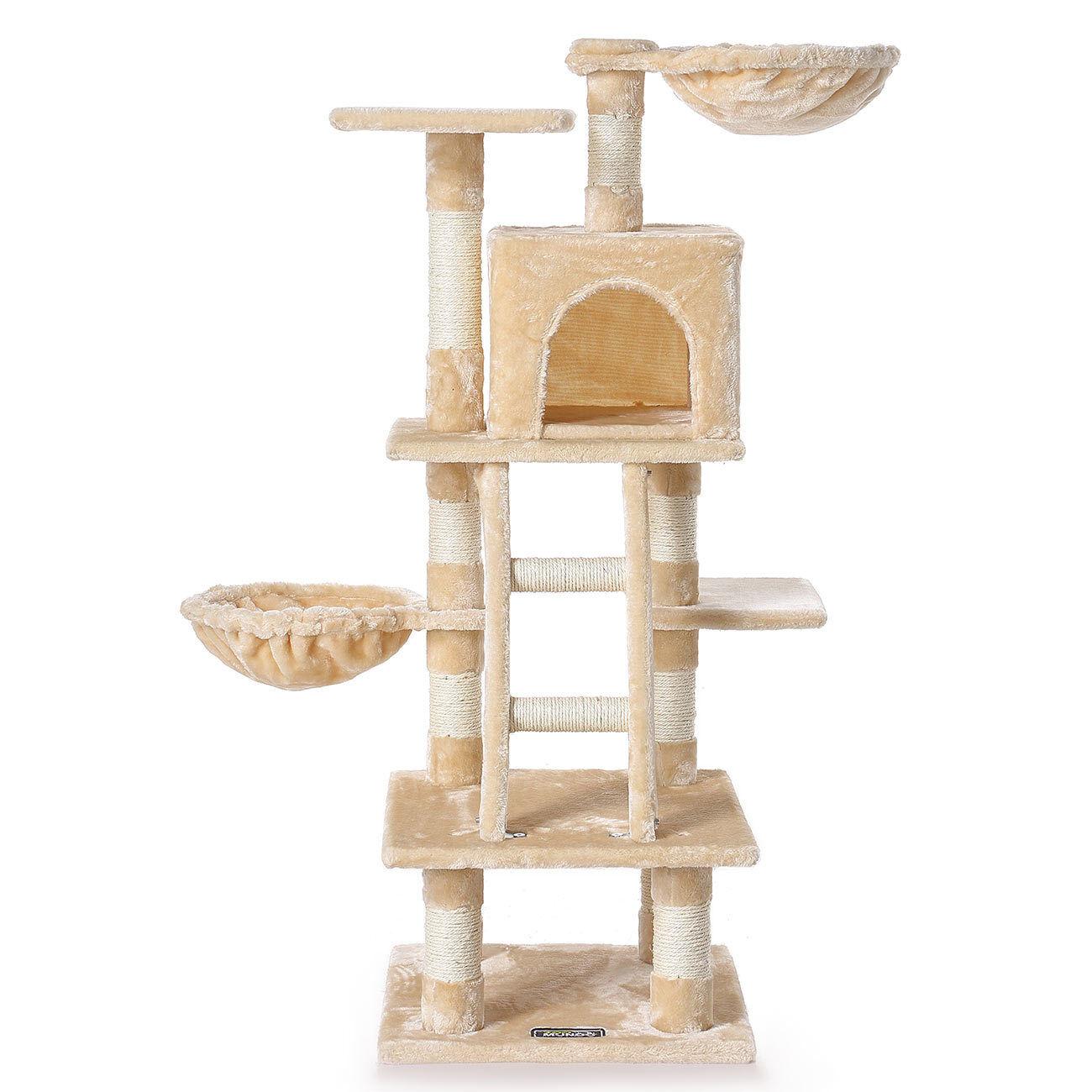 Árbol para gatos Rascador para gatos sisal juguetes 120 cm Cuerda Casa zoomundo