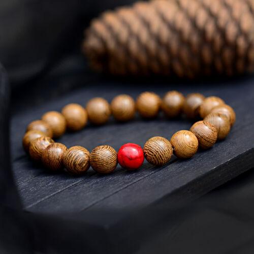 Details about  /10MM Lava Onyx Malachite Bracelets Healing Balance Men Women Wood Bracelets Gift