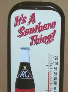 Vintage RC Cola Royal Crown Cola Thermometer Sign | Etsy