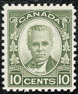 MH SC#190 10c dark green George-Etienne Cartier