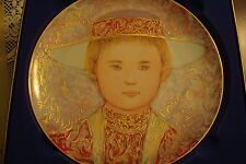 "Edna Hibel collector plate""Gerard"" the 2nd of ""A Tribute to All Children""[a*4rac"