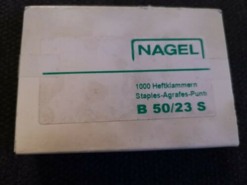 box of 1000 Nagel B 50//23 S staples
