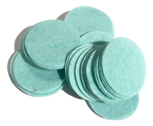 "1.5/"" aqua blue felt circles 10 pieces die cut appliqués for flower /& bows"