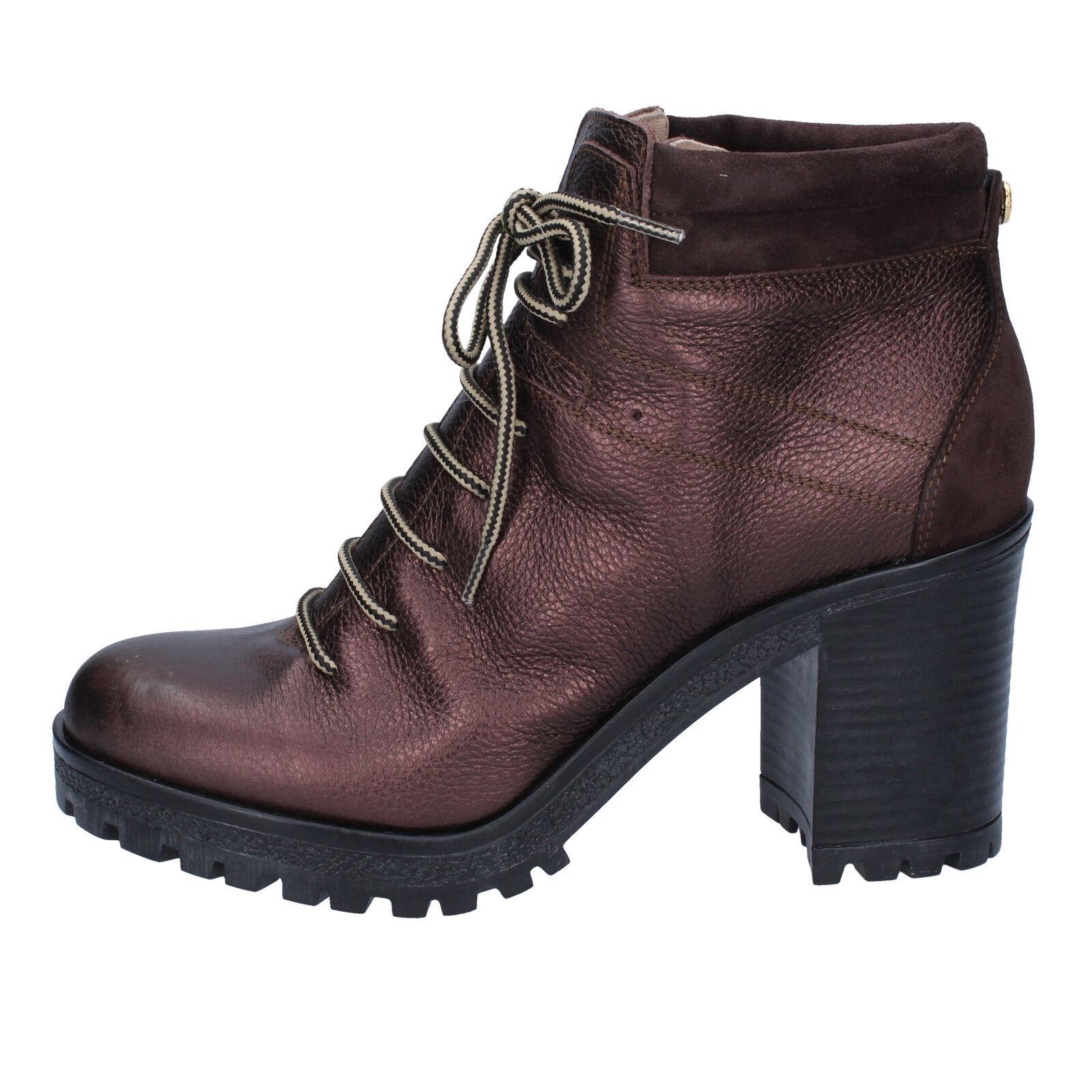 scarpe donna moro LIU JO 36 EU stivaletti t. moro donna pelle camoscio BY638-36 7dbcf7