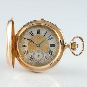 Genfer-18k-Gold-Prunk-Savonnette-60mm-167g-Minuten-Repetition-amp-Chronograph-1890