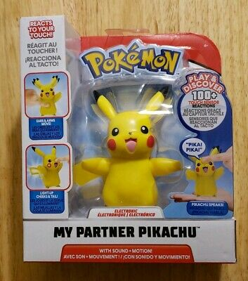 Reactions Pokemon My Partner Pikachu Interactive Electronic Figure Sounds 100