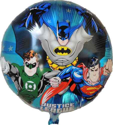 JUSTICE LEAGUE BATMAN GREEN LANTERN SUPERMAN HULK IRON MAN BDAY PARTY BALLOON