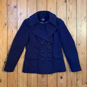 Marks-And-Spencers-Womens-Blue-Pea-Coat-UK-Size-8