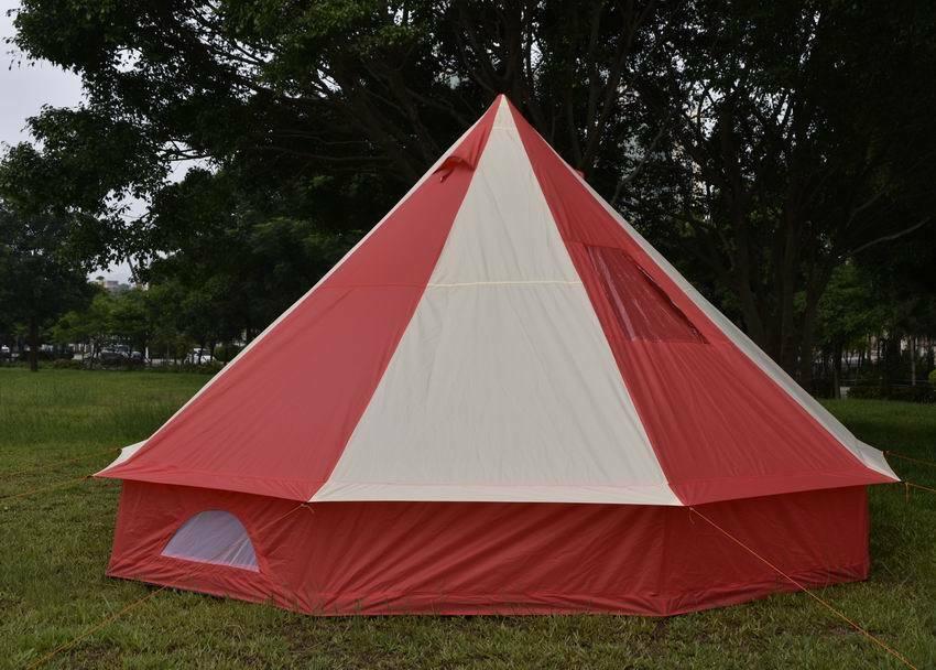 Tenda 5m Piramide rossoondo Bell Tenda Con Cerniera in terreno foglio Sfiati Impermeabile