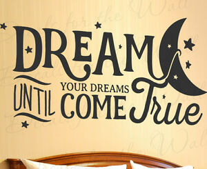 Dream until your dreams come true aerosmith wall art vinyl decal image is loading dream until your dreams come true aerosmith wall altavistaventures Choice Image