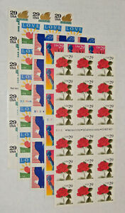 Five x18 = 90 Different Assorted Mixed Designs Booklets of 29¢ US Postage Stamps