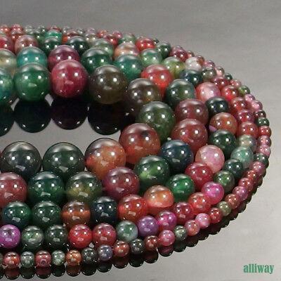 Dragon Vein Agate Gemstone Round Spacer Beads 15.5/'/' 4mm 6mm 8mm 10mm 12mm DIY