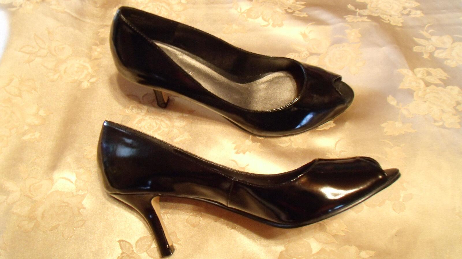 Madeline High Tenet Black Patent 8M High Madeline Heel  NIB 761955