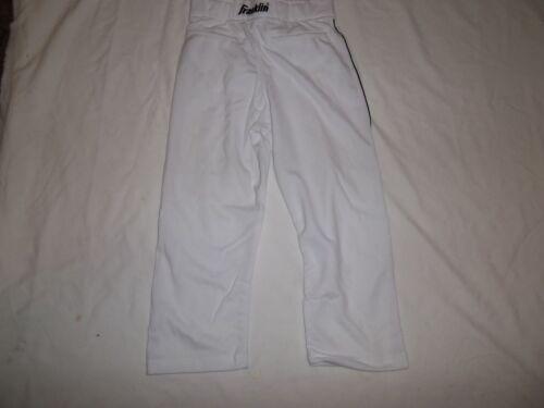Franklin Relaxed Fit Youth Baseball Pantalon fond ouvert blanc avec passepoil noir