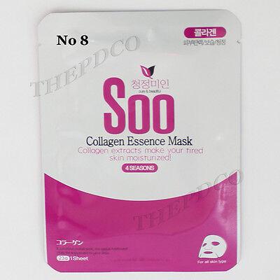 "TPD Collagen 8pcs Soo Natural Essence Korea Facial Mask Sheet Pack ""No paraben"""
