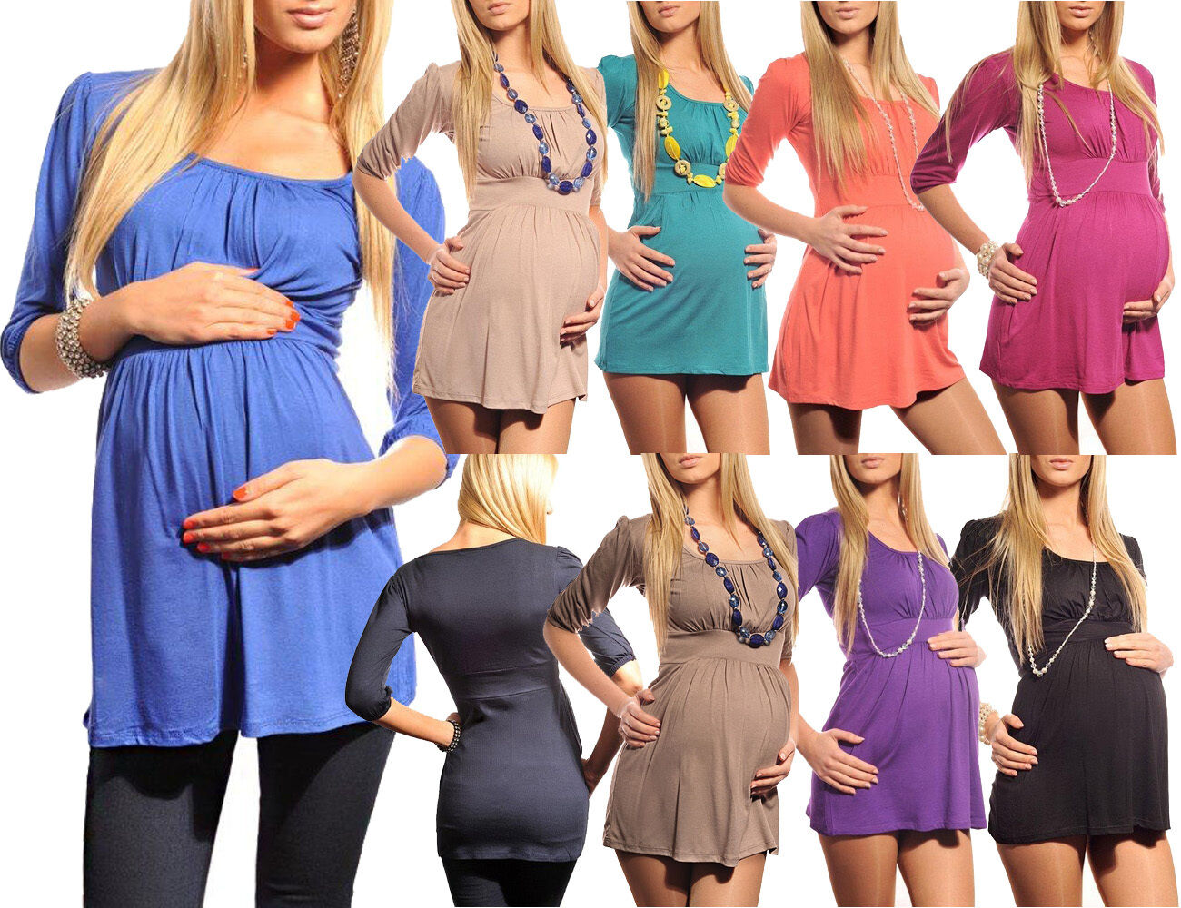 New Ladies MATERNITY  Scoop Neck TOP TUNIC Pregnancy Size 8 10 12 14 16 18 5006