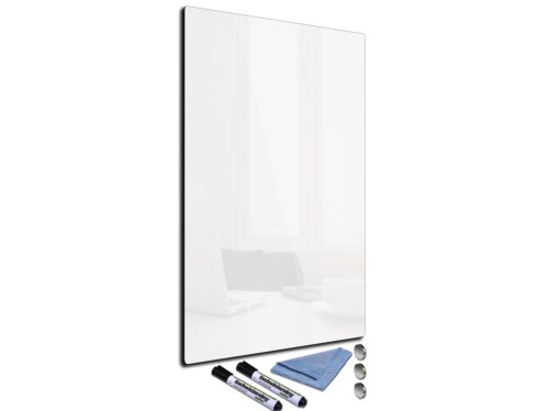 Glass Memo Board Magnetic Heat Resistant Toughened Glass 30x52-R3cm white