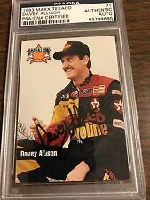 Davey Allison PSA/DNA Certified Autographed signed 1993 Texaco Nascar